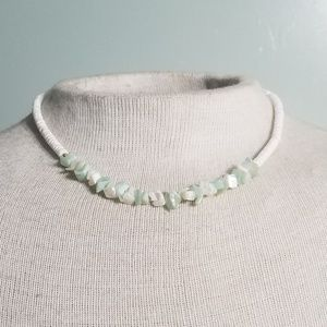 Mint and White Necklace